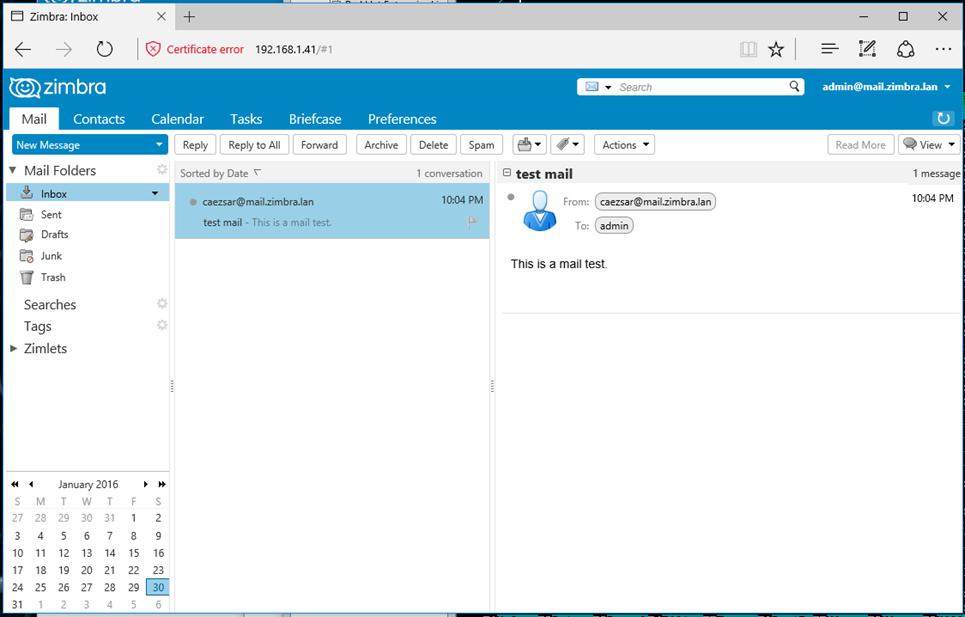 User Webmail Dashboard