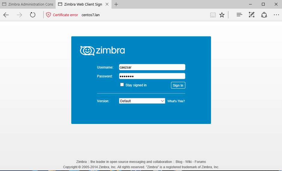 User Webmail Login