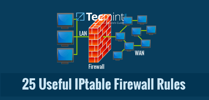 25 IPtables Firewall Rules for Linux