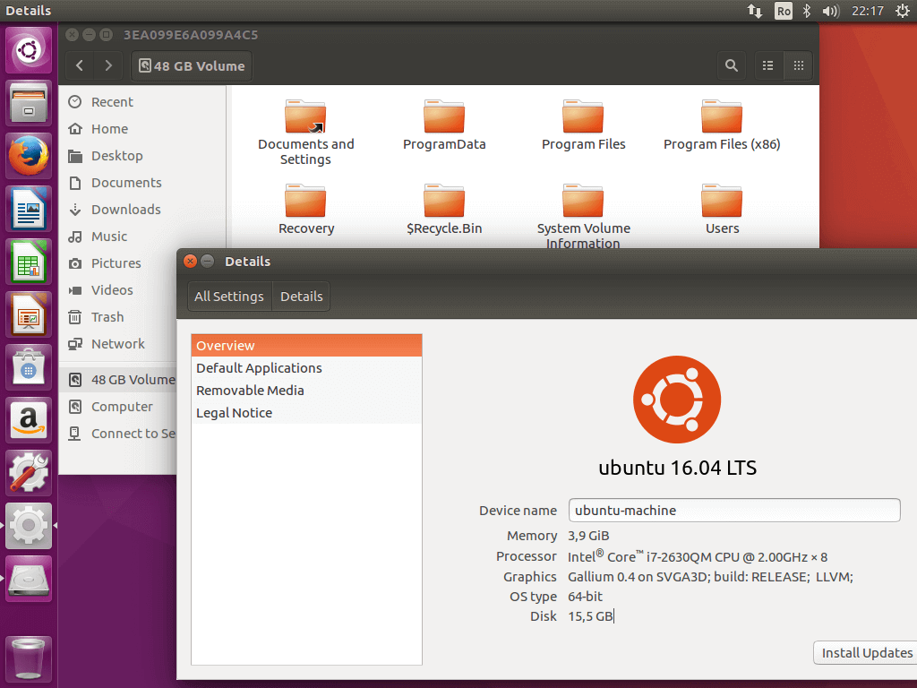 Access Windows Partitions from Ubuntu 16.04