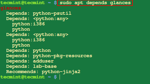 Check Dependencies of Package