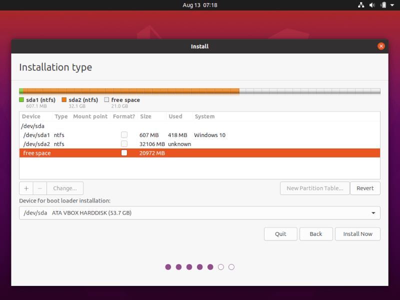 Create Ubuntu Root Partition