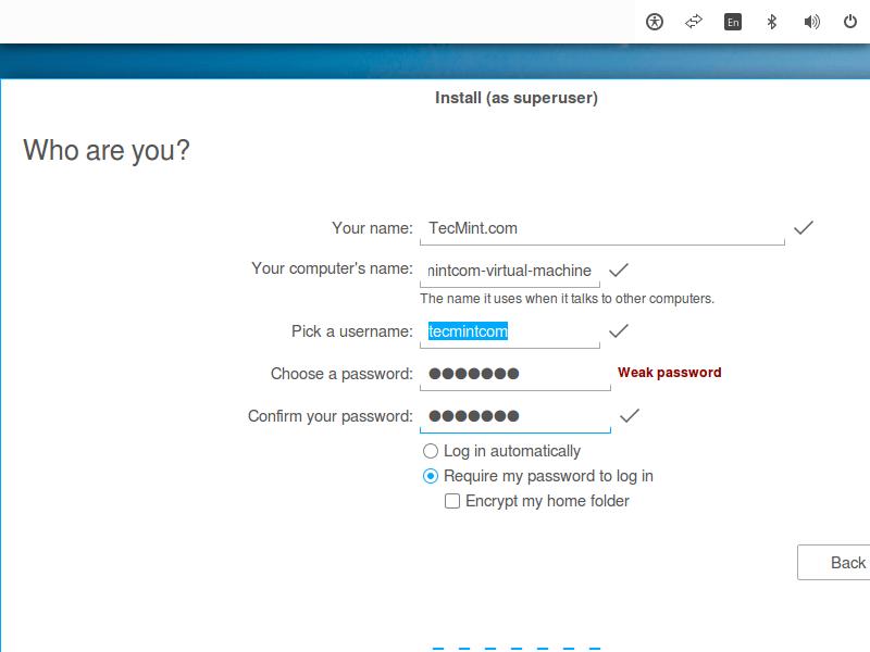 Create Zorin OS User Account