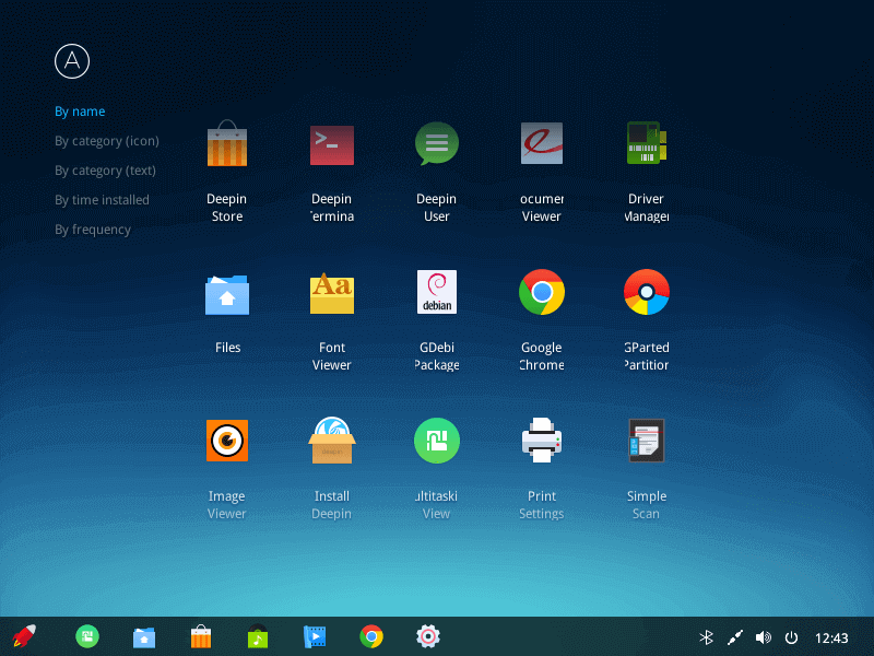Deepin Applications by Name