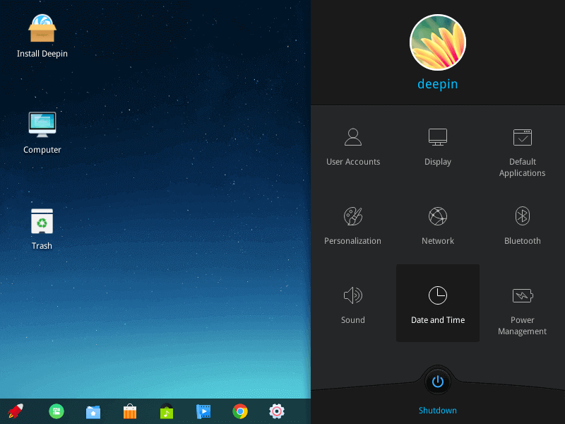 Deepin Desktop Basic Settings