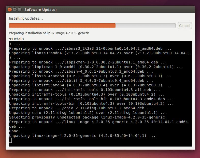 Installing Ubuntu Software Updates