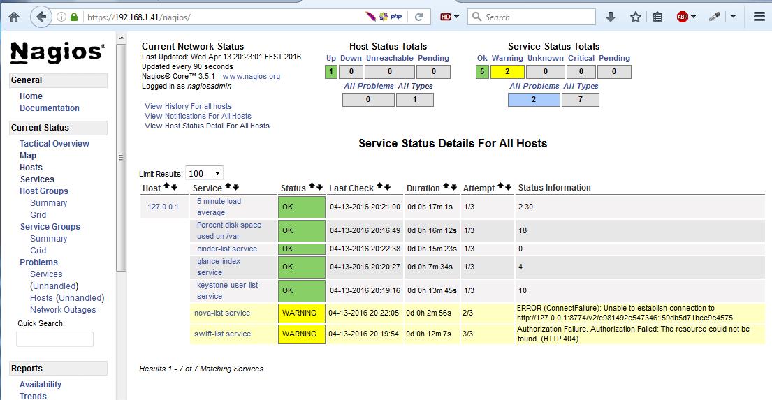 Nagios Linux Monitoring Interface
