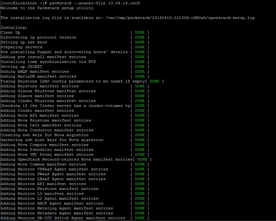 Openstack Installation in CentOS