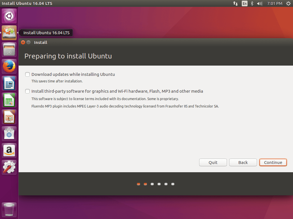 Preparing Ubuntu 16.04 Installation