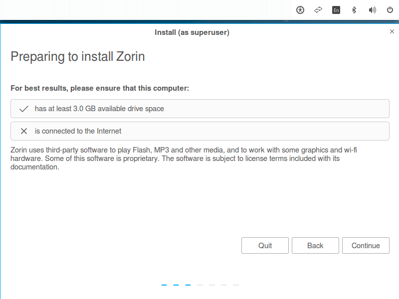 Preparing to Install Zorin OS