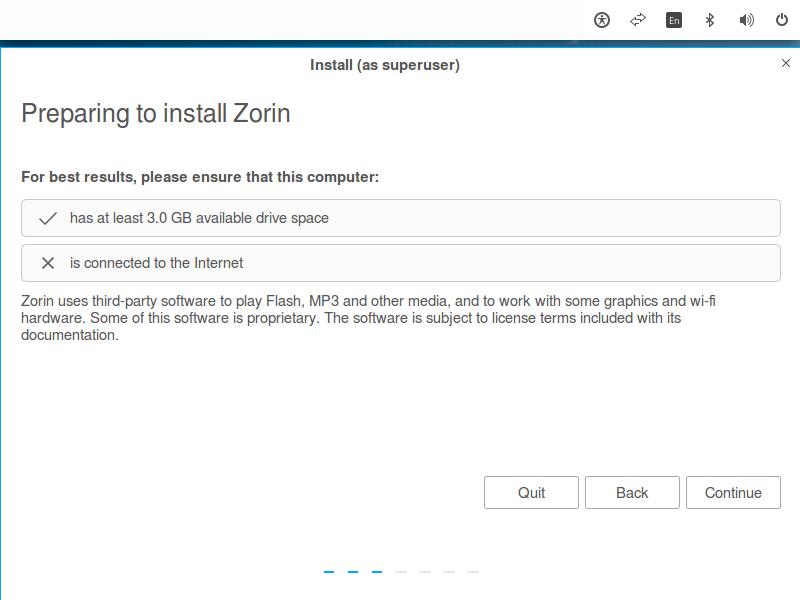 Preparing to Install Zorin OS