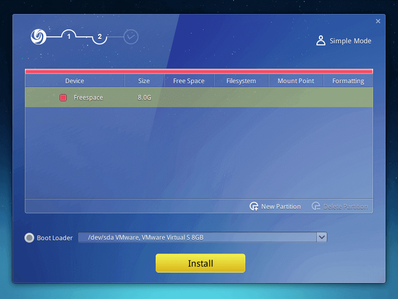 Select Deepin OS Boot Loader