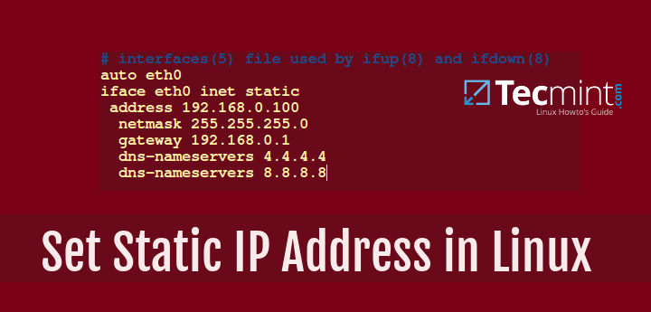 Set Static Network IP Address in Linux