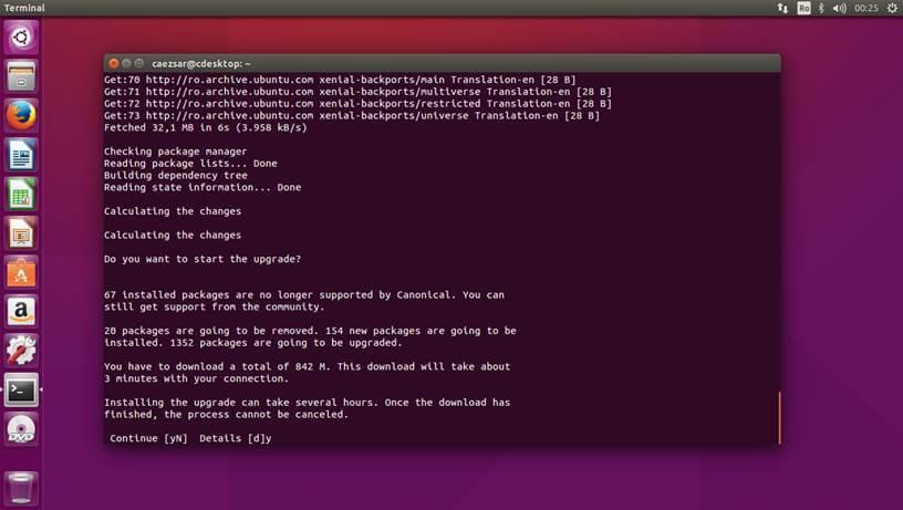Ubuntu 15.10 Upgrade Process