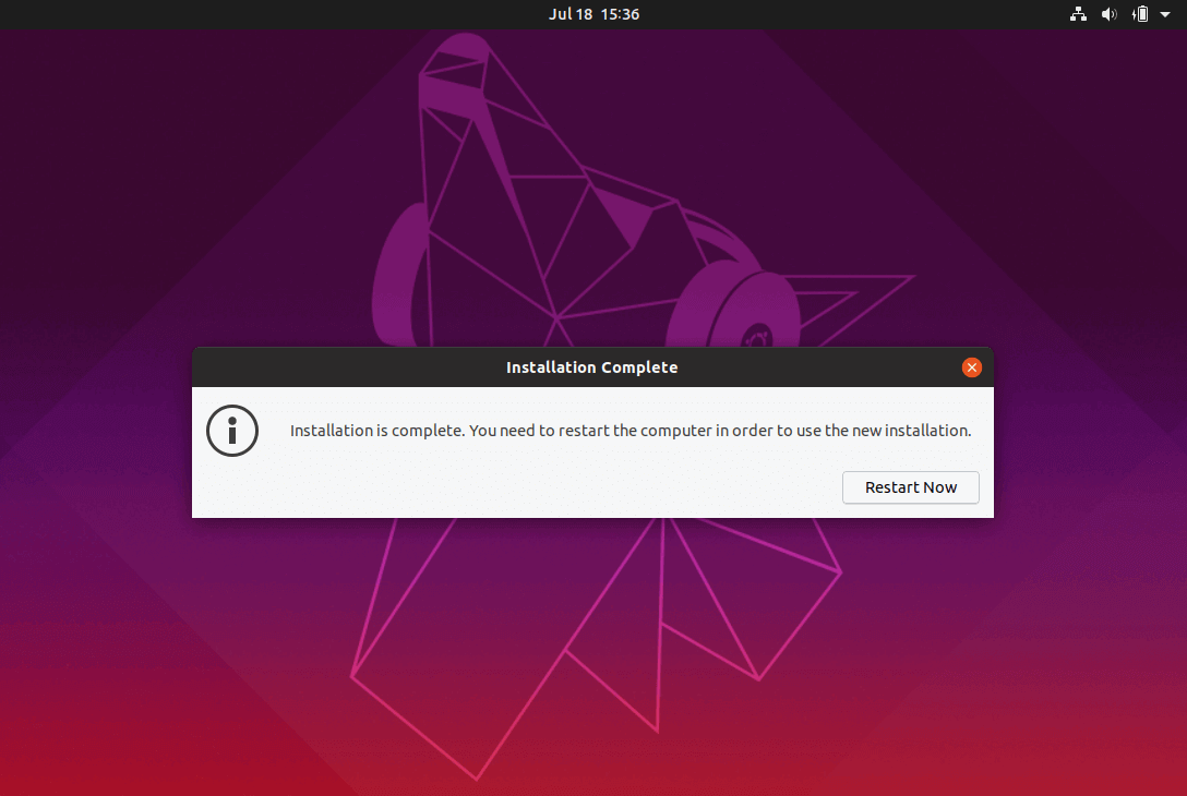 Ubuntu Installation Completed