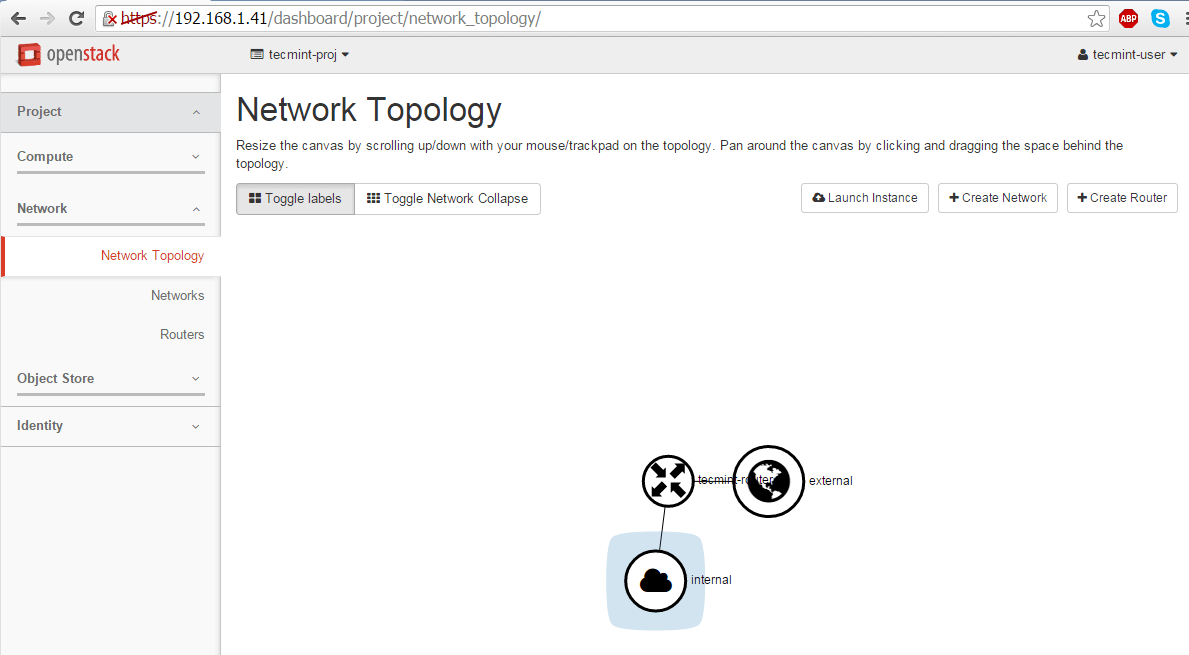 Verify OpenStack Network Topology