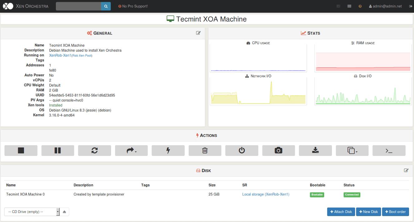 XenServer Host Machine Details