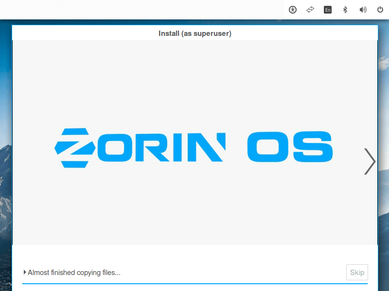 Zorin OS Installation Process