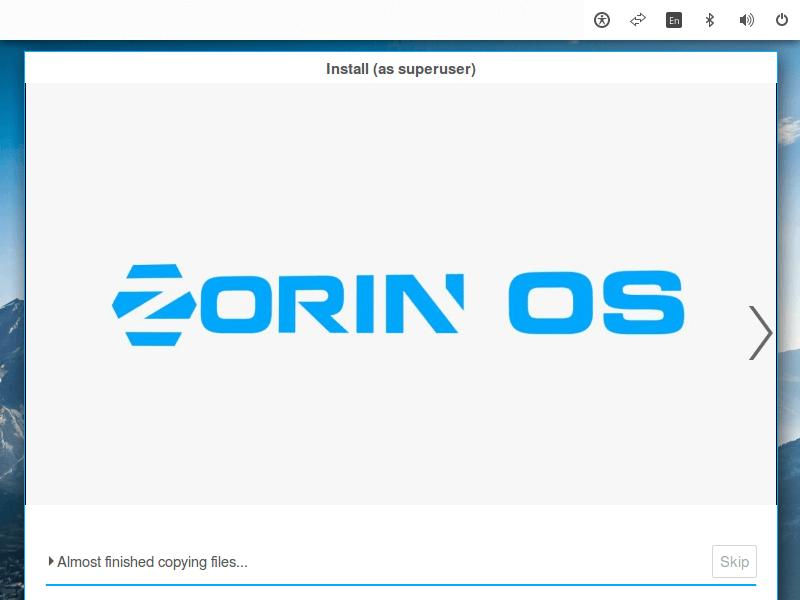 Zorin OS Installation Process