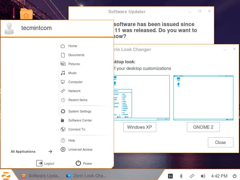 Zorin OS Windows Look and Feel