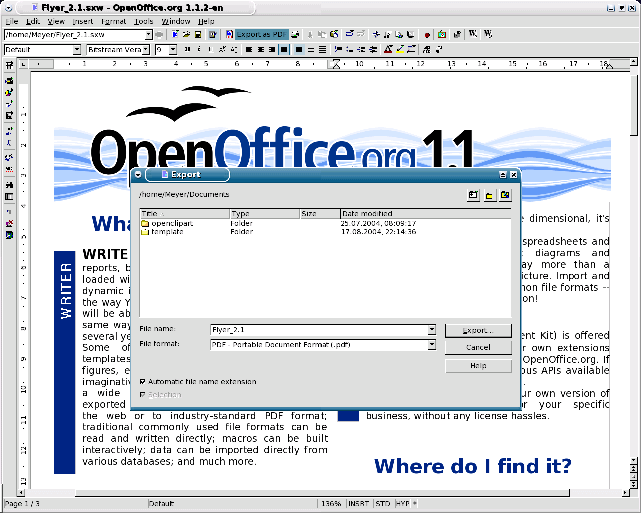 Openoffice for Linux