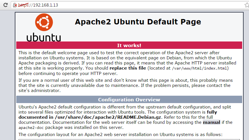 Apache Running on HTTPS