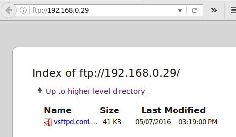 FTP Web Directory Browsing