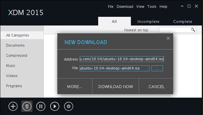 Download Files Using Xtreme Download Manager