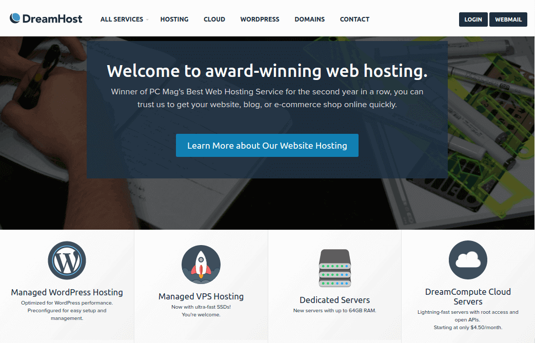 DreamHost Hosting for Linux with Free 1 Domain