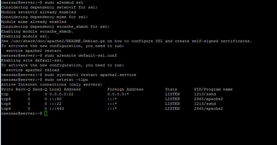 Enable Apache SSL Module