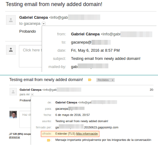 Google Apps Email Delivery Verification