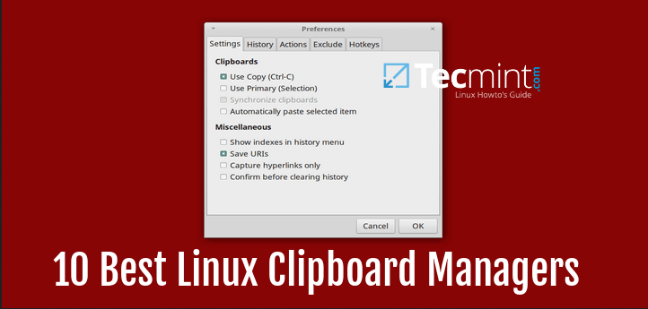 Linux Clipboard Managers