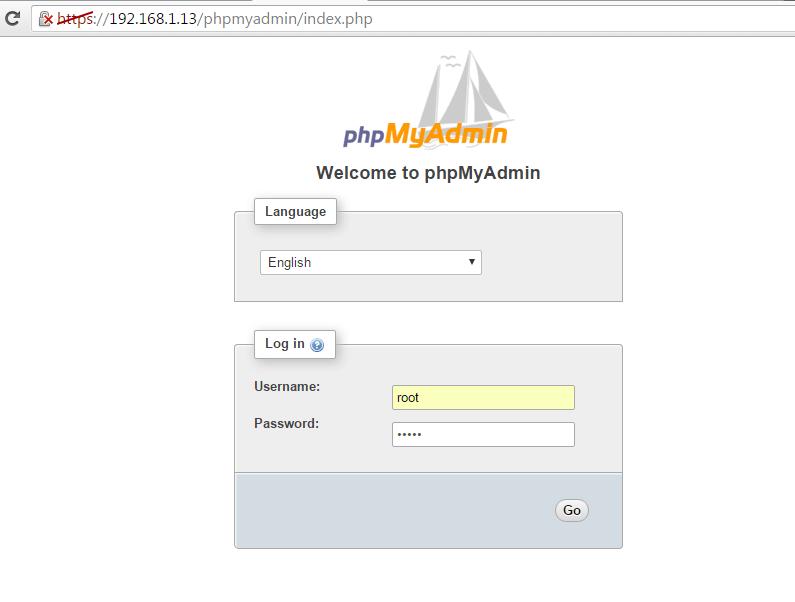 PhpMyAdmin Web Interface