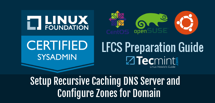 Setup Recursive Caching DNS Server and Create DNS Zones