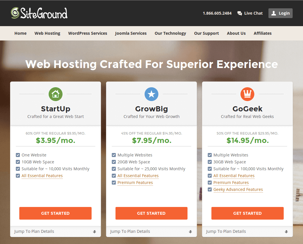 shared hosting siteground military discount January