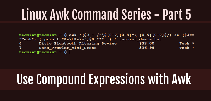 Use Compound Expressions with Awk
