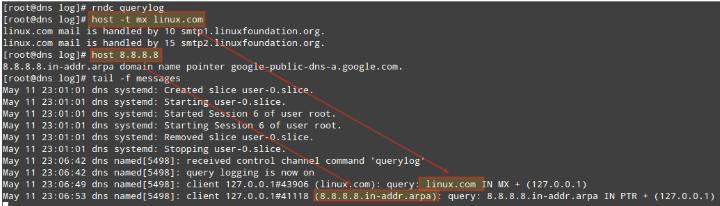 Verify DNS Queries in Log