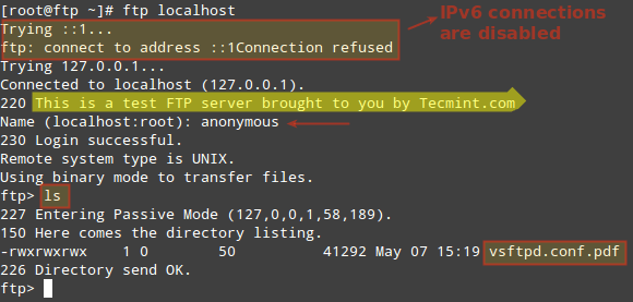 Verify FTP Connection