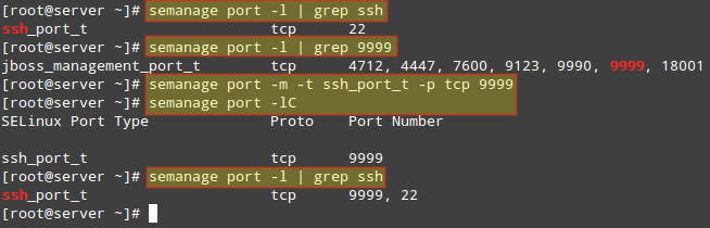Assign Port to SSH