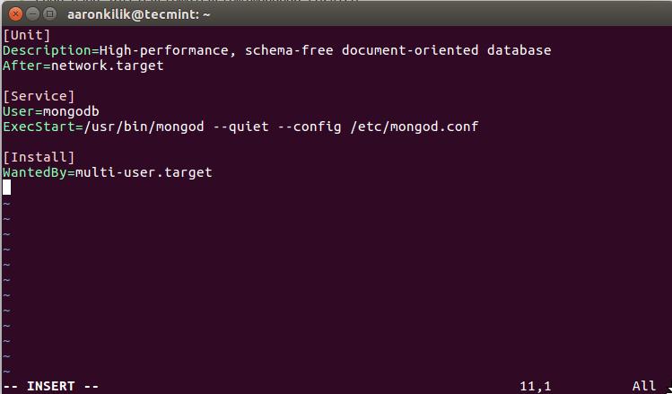 Create SystemD MongoDB Service