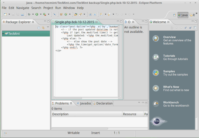 Eclipse IDE for Linux