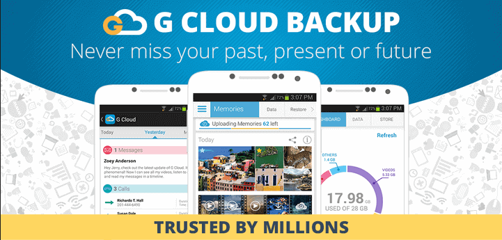 G Cloud Unlimited Phone Data Backup