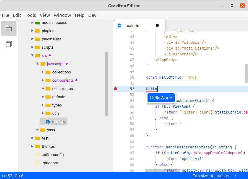 Graviton Source Code Editor