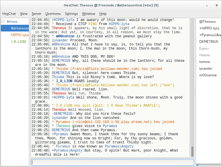 HexChat IRC Client for Linux