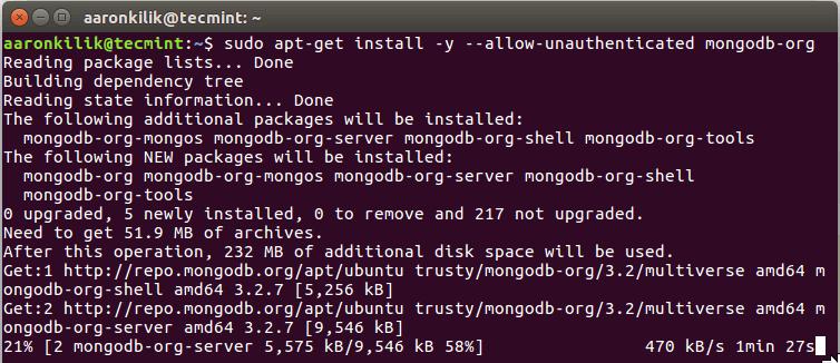 Install MongoDB in Ubuntu 16.04