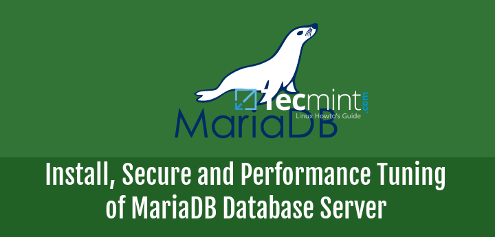 Install , Secure and Performance Tuning of MariaDB Server
