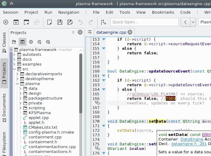 KDevelop IDE Editor