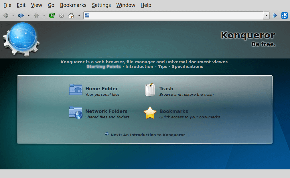 Konqueror File Manager