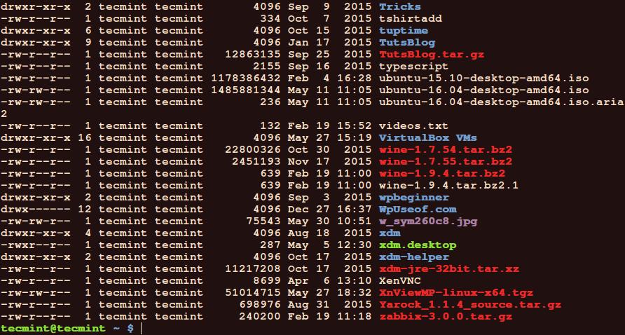 Linux Commandline File Manager