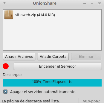 OnionShare File Download